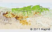 Physical 3D Map of Cantabria, lighten