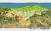 Physical 3D Map of Cantabria, satellite outside