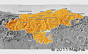 Political 3D Map of Cantabria, desaturated