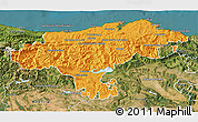 Political 3D Map of Cantabria, satellite outside