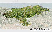 Satellite 3D Map of Cantabria, lighten