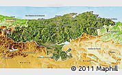Satellite 3D Map of Cantabria, physical outside