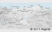 Silver Style 3D Map of Cantabria