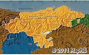Political Map of Cantabria, darken
