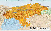 Political Map of Cantabria, lighten