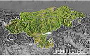 Satellite Map of Cantabria, desaturated