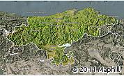Satellite Map of Cantabria, semi-desaturated