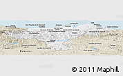 Classic Style Panoramic Map of Cantabria