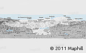 Gray Panoramic Map of Cantabria