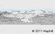 Gray Panoramic Map of Cantabria