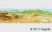 Physical Panoramic Map of Cantabria