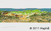 Physical Panoramic Map of Cantabria, satellite outside