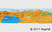 Political Panoramic Map of Cantabria