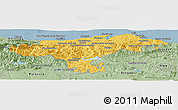 Savanna Style Panoramic Map of Cantabria