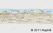Shaded Relief Panoramic Map of Cantabria