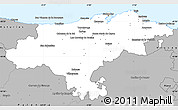 Gray Simple Map of Cantabria