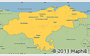Savanna Style Simple Map of Cantabria