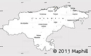 Silver Style Simple Map of Cantabria, cropped outside
