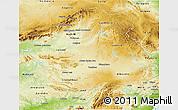 Physical 3D Map of Castilla-La Mancha