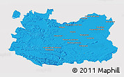 Political 3D Map of Ciudad Real, cropped outside