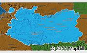 Political 3D Map of Ciudad Real, darken