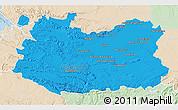 Political 3D Map of Ciudad Real, lighten