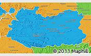 Political 3D Map of Ciudad Real