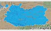 Political 3D Map of Ciudad Real, semi-desaturated