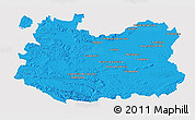 Political 3D Map of Ciudad Real, single color outside