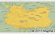 Savanna Style 3D Map of Ciudad Real