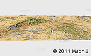 Satellite Panoramic Map of Guadalajara