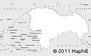 Silver Style Simple Map of Guadalajara