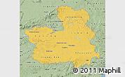 Savanna Style Map of Castilla-La Mancha