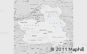 Silver Style Map of Castilla-La Mancha