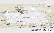 Classic Style Panoramic Map of Castilla-La Mancha