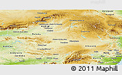 Physical Panoramic Map of Castilla-La Mancha
