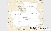 Classic Style Simple Map of Castilla-La Mancha