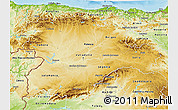 Physical 3D Map of Castilla y León