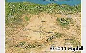 Satellite 3D Map of Castilla y León