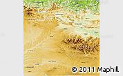 Physical 3D Map of Burgos