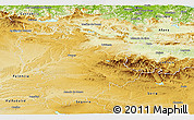 Physical Panoramic Map of Burgos