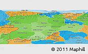 Political Shades Panoramic Map of Castilla y León