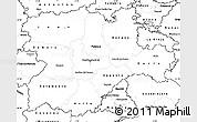 Blank Simple Map of Castilla y León