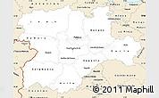 Classic Style Simple Map of Castilla y León