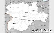 Gray Simple Map of Castilla y León