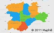 Political Simple Map of Castilla y León, single color outside