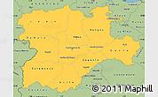 Savanna Style Simple Map of Castilla y León
