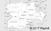 Silver Style Simple Map of Castilla y León