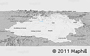 Gray Panoramic Map of Soria