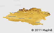 Physical Panoramic Map of Soria, cropped outside